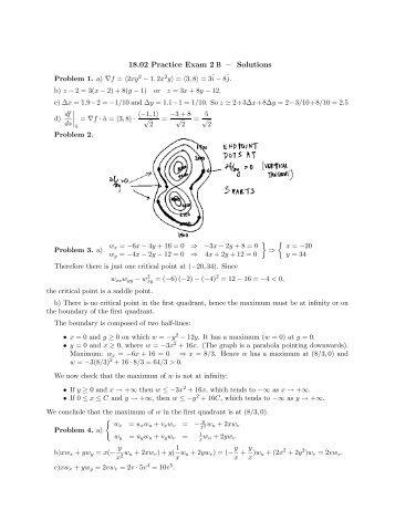 18.02 Practice Exam 2 B – Solutions