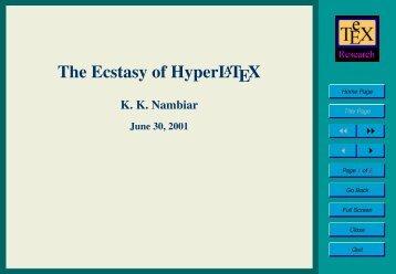 The Ecstasy of HyperLATEX - E-atheneum.net