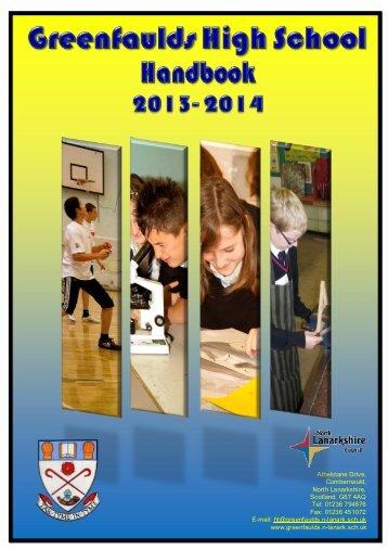 Greenfaulds high school handbook