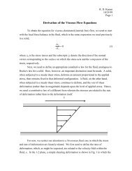 Derivation of the Viscous Flow Equations