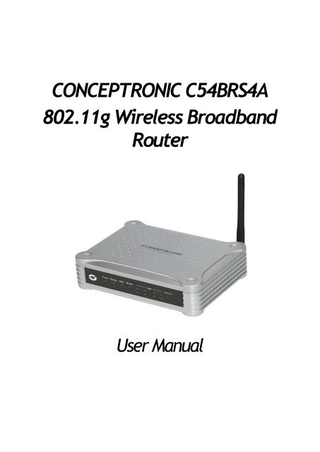 Conceptronic C54BRS4A Router Drivers for Windows 10