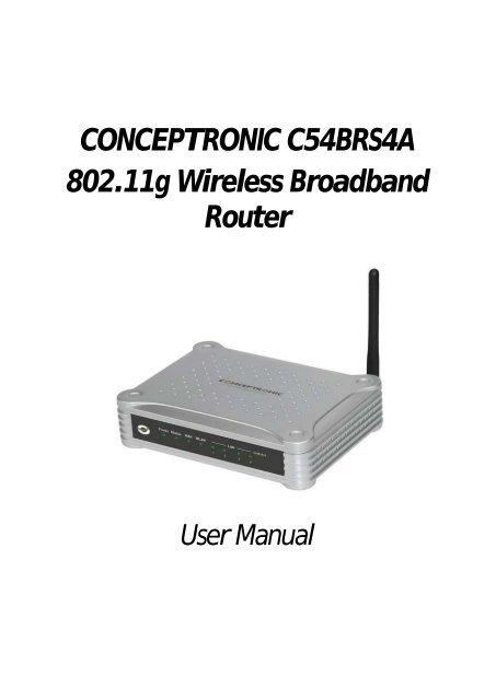 CONCEPTRONIC C54BRS4 ROUTER DRIVER WINDOWS