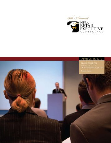 Retail Executive Conference brochure and registration form