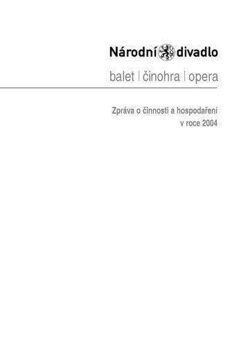 2. umělecká činnost národního divadla - Národní divadlo
