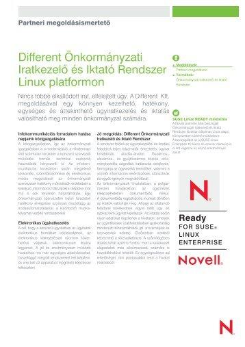 Partneri megoldásismertetõ Different Önkormányzati... - Novell