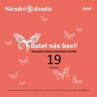Newsletter Baletu Národního divadla - Národní divadlo