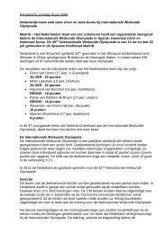 Persbericht - Nederlandse Wiskunde Olympiade