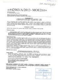 Oznámení o výběrovém řízení - Praha 18 Letňany