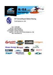 ICF Canoe/Kayak Slalom Racing - results.cz