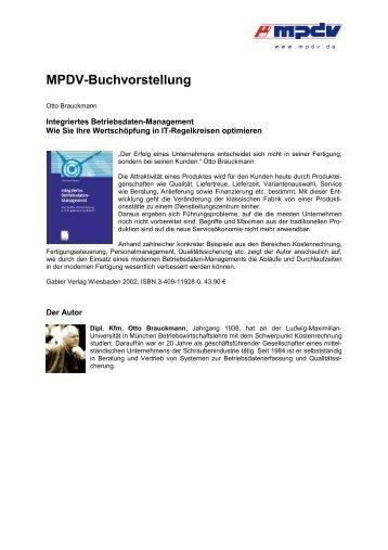 MPDV-Buchvorstellung - MPDV Mikrolab GmbH