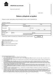 Žádost o příspěvek na bydlení - Praha.eu