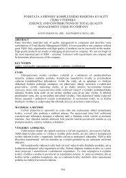 podstata a prínosy komplexného riadenia kvality (tqm) v podniku ...