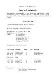 Státní závěrečné zkoušky - Katedra hydromeliorací a krajinného ...