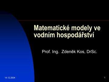 Matematické modely ve vodním hospodářství