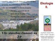 Vliv stavebnictví na ŽP - Katedra hydromeliorací a krajinného ...
