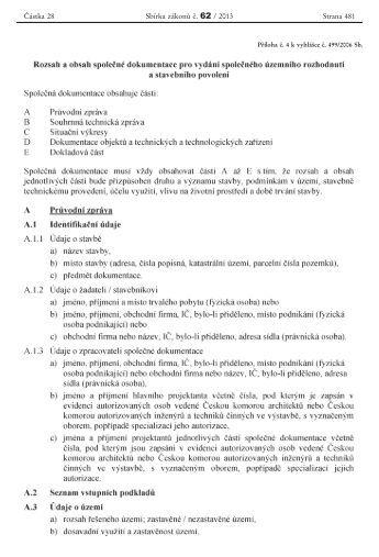 příloha č. 4 vyhl. č. 499/2006 Sb. plat. od 1. 1. 2013 - Praha 9