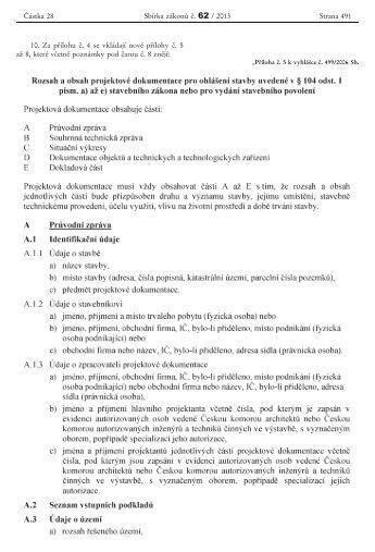 příloha č. 5 vyhl. č. 499/2006 Sb. plat. od 1. 1. 2013 - Praha 9