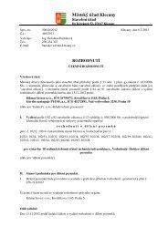 Dělení pozemků k.ú. Hoštice - Kilmar Invest s.r.o. - Klecany