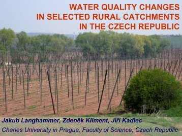 Water quality changes in the Czech Republic