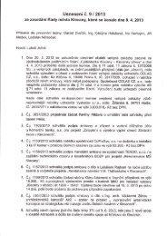 Zápis ze zasedání Rady města Klecany, které se konalo dne 8.4.2013