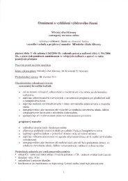 Oznámení o vyhlášení výběrového řízení - Klecany
