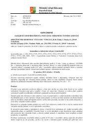 Zahájení územního řízení a pozvání k veřejnému ústnímu - Klecany
