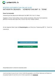 Vorbereitung BMT 10 - Terme - Mathematik-Nachhilfe ... - unterricht.de