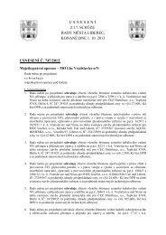 usnesení z 17. schůze rady města liberec, konané dne 1. 10. 2013 ...