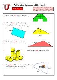 sample questions level 2 - Mathematics