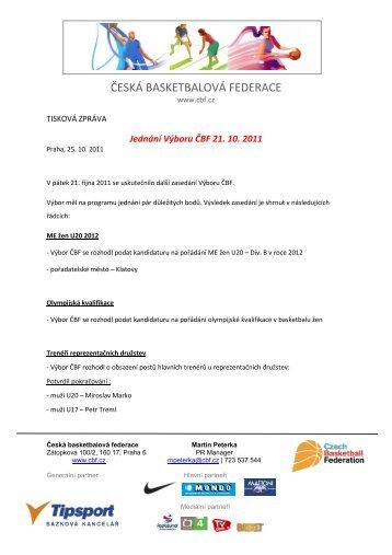 Jednání Výboru ČBF 21.10.2011