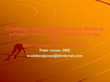 to watch the full presentation - Ecolateral by Peter Jones