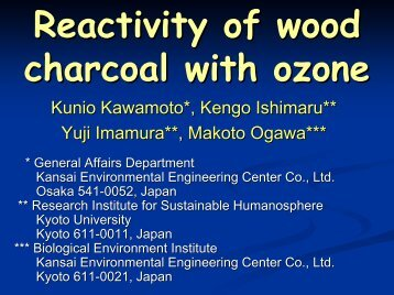 Reactivity of wood charcoal with ozone - Eprida