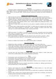 Zjednodušená pravidla pro wheelchair (vozíky) ČBF 3x3