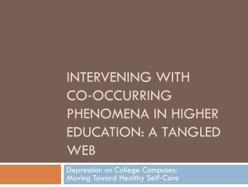 Co-occurring phenomena - University of Michigan Depression Center