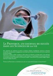 Plaquette Sciences de la Vie - Provence Promotion