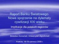 Raport Banku Światowego.