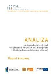 Raport koncowy - Małopolskie Obserwatoria Rozwoju Regionalnego