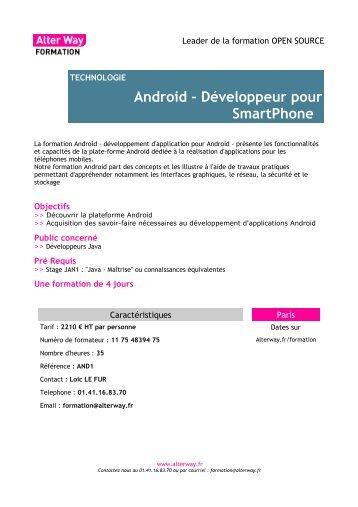 Android - Développeur pour SmartPhone - Alter Way