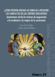 Familia y resolución de conflictos en los centros - FAPA Alhambra