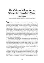 The Madonna's Brooch as an Allusion to Verrocchio's Name* Luba ...