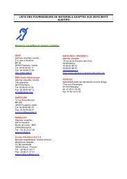 liste des fournisseurs de materiels adaptes aux deficients auditifs