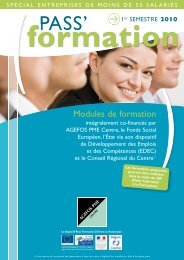 formation - AGEFOS PME Centre