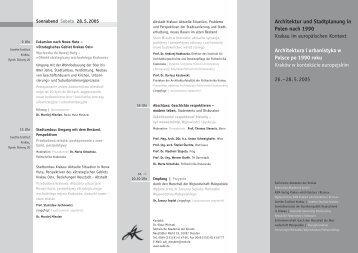 Architektur und Stadtplanung in Polen nach 1990 Krakau im ... - WA.pl