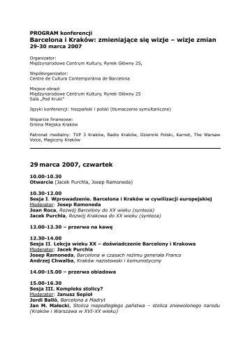 Program konferencji > > > (pdf) - WA.pl
