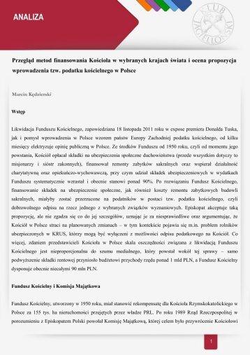 pobierz - Zespół Ekspertów Klubu Jagiellońskiego - Klub Jagielloński