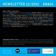 newsletter 12/2012 - Era21