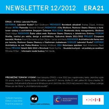 newsletter 12/2012 - Era21