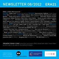 newsletter 08/2012 - Era21