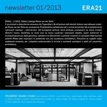 newsletter 01/2013 - Era21