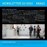 newsletter 10/2010 - Era21